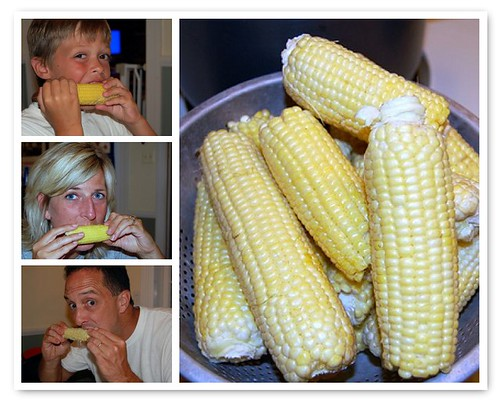 eating our corn!
