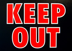 Keep Out, by Sarah Morris (via 16 Miles of String, creative commons license)