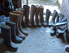 Le grand retour des bottes ! (iveka19) Tags: france countryside boots rubber collection gummistiefel corrze bottes gumboots limousin bota botta gumy ruralit lepescher