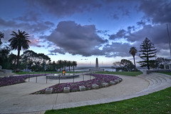 Western Australian War Memorial (Adon Buckley) Tags: park sunset monument garden memorial war australian flame kings perth western kingspark hdr buckley adon westernaustralianwarmemorial