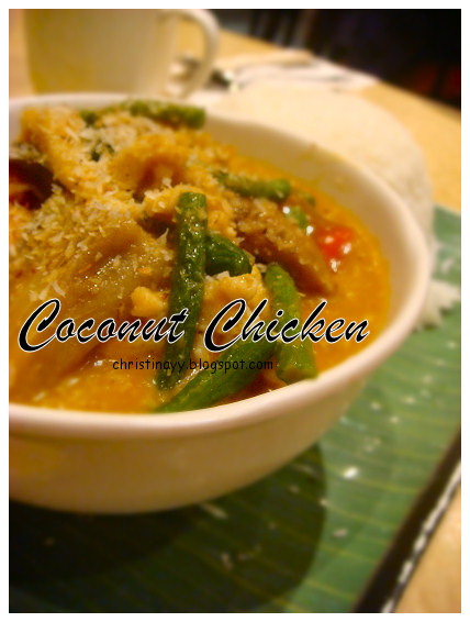 Malayan Corner Restaurant: Coconut Chicken with Rice
