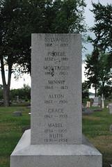 What not to name your kids... (brotherxii) Tags: cemetery grave graveyard stone wisconsin nikon head headstone roadtrip mabel phoebe gravestone marker ruth minnie alton oshkosh montague gravemarker d60 nikond60 sylvanus oshkoshwisconsin july262009