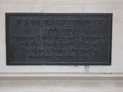 Photo of John Baskerville brass plaque