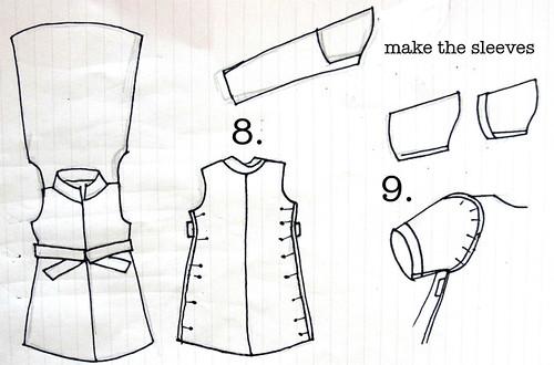 shirt dress steps 8-9