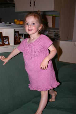 Crocheted peasant dress
