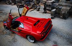 Lamborghini Diablo SV (Derek Walker Photo (Derk Photography)) Tags: above new york red ny black building car island photo high nikon long shoot angle top awesome exotic diablo rims lamborghini supercar sv spotting derk d80