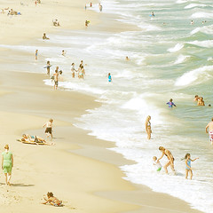 A Day at the Beach (valerie chiang) Tags: ocean summer people beach square inspired northcarolina explore frontpage carolinabeach kurebeachpier highpassfilter valeriee valeriechiang thisisjustlikeanoilpainting valeriechiangportfolio