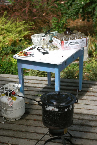 outdoor canning station