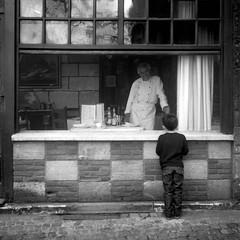 Slow food (nik) Tags: 2004 window restaurant neopan expired yashica virela gardela virela2 gardela2 gardela3 gardela4 gardela5 gardela6 gardela7 gardela8 gardela9 gardela10 gardela11