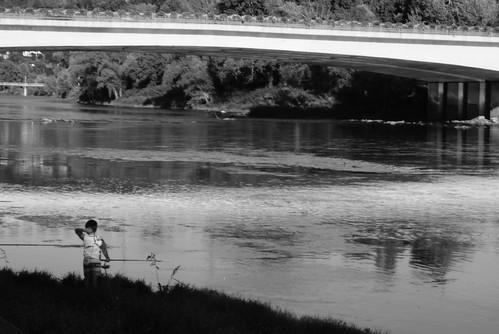 Pesca lungo il Po