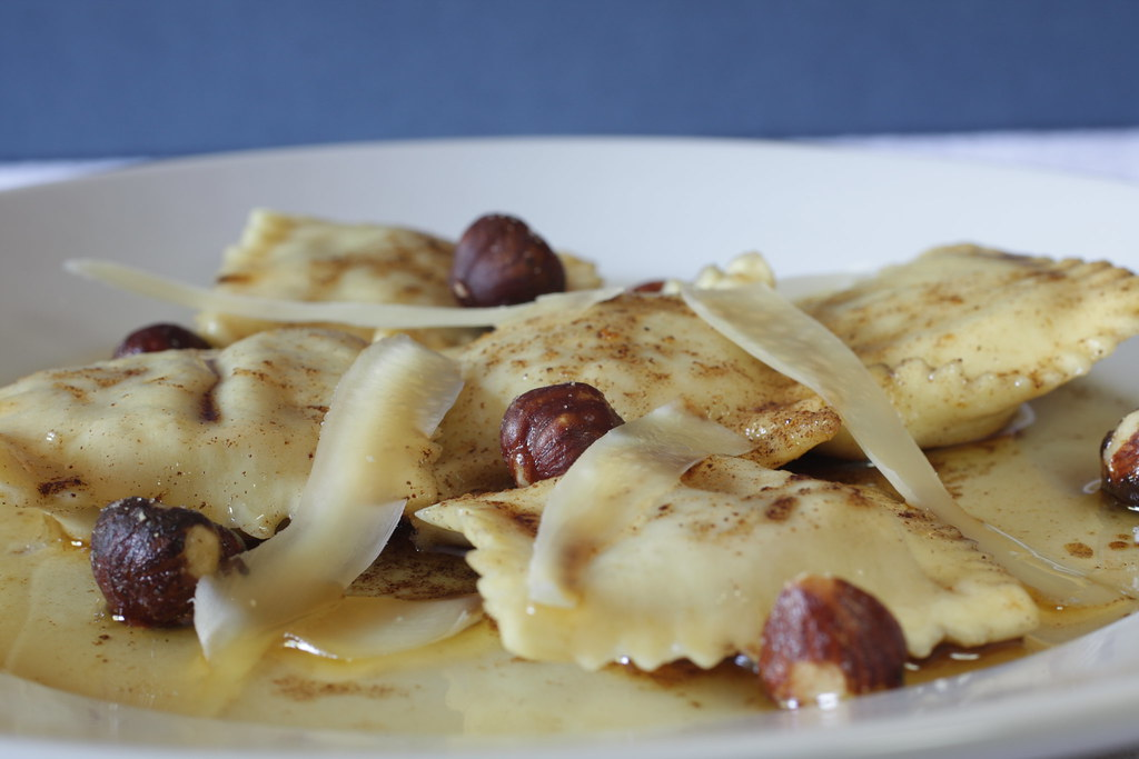 Sweet Potato Ravioli with Spiced Brown Butter