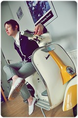 Beat Surrender v.1 (Jazzy Lemon) Tags: uk england musician fashion rock marriott newcastle promo lemon mod shoot vespa britain north blues indie acoustic british beppy jam promotional northeast rb jazzy alternative newcastleupontyne paulweller stylecouncil beppie walkergate jazzylemon jazzylemonade beppymarriott