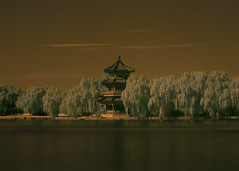 Houhai Lake in IR (jmdiocos) Tags: china lake beijing photowalk september12 houhai lang domir ir72 kopya popbeijing diocos cgbtuesdayduo walangbeautifulblue
