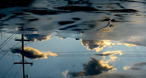 Power Lines & Clouds in Asphalt