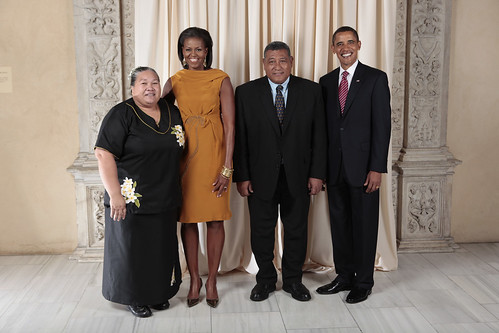 Obamas with first couple of Tuvalu