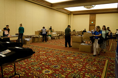 GHC09: Hopper volunteers walk around filling the bags