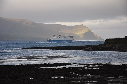 Morning Ferry heading past Hoy