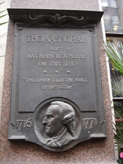Photo of Thomas Gray grey plaque