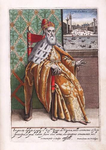 005-Vestimenta del Dogo de Venecia en ceremonias y fiestas principales-Habiti d'hvomeni et donne venetiane 1609