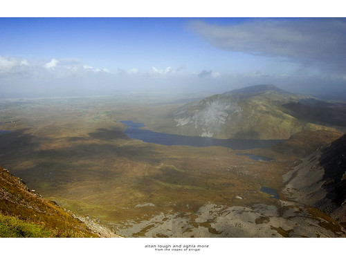 Altan Lough and Aghla More (from Errigal)