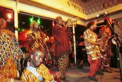 Mac Tontoh Project from Ghana at the Africa Centre London July 2001 065 band (photographer695) Tags: world africa from 2001 music london mac african centre band july jazz ghana warriors ashanti kete trumpeter amanas osibisa tontoh nanaeba exosibisa