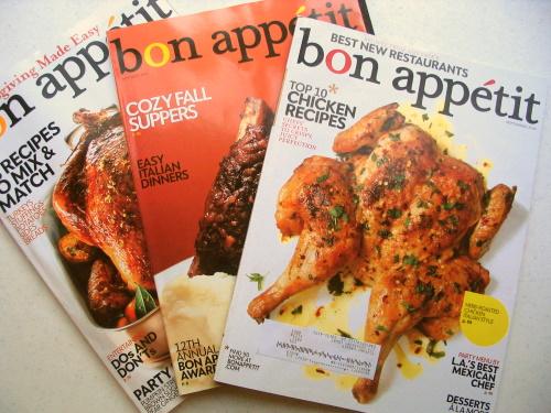 Bon Appetit magazines