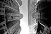 Chrysler Building - New York (Richard E. Ducker) Tags: new york city white black building fisheye chrysler