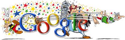 Google Logo Astérix ©2009 Uderzy & Goscinny