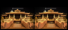 Surau Warisan Dunia on 3D HDR (AnNamir c[_]) Tags: longexposure moon building canon 3d nightshot prayer kitlens malaysia stereography hdr melaka bulan solat 500d musolla surau tonemapped senibina annamir warisandunia surauwarisandunia