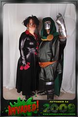 Steve Julie (avitable) Tags: costumes party halloween alien invasion doctordoom invaded avitaween avitaween2009