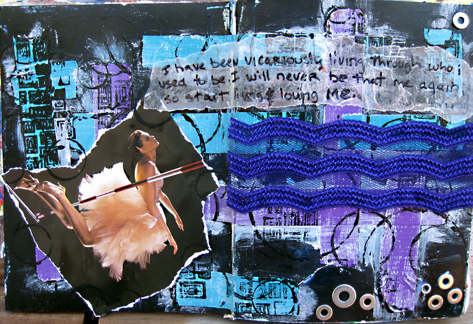 vicarious art journal page