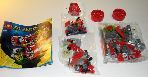 LEGO 8060 Atlantis - Typhoon Turbo Sub - Manual, Stickers, Parts Bags