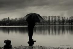 Rain,rain and more rain........ (Nicolas Valentin) Tags: black wet rain stone umbrella scotland scenery loch bardowie