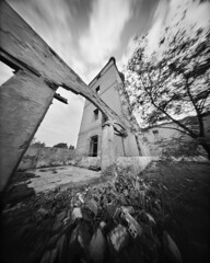 A Delicate Arch (4x5 Pinhole Photograph) (integrity_of_light) Tags: bw film architecture spain ruins pinhole 4x5 middleages largeformat alcaladehenares fujiacros100