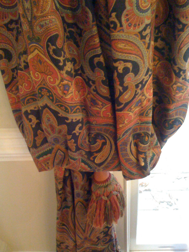 Heavy Custom Paisley Curtains