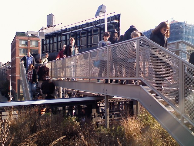 Stair entrance into the High Line