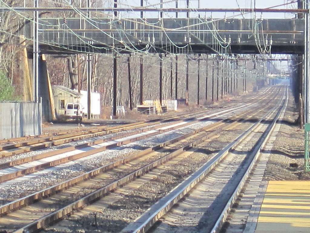 Vanishing point, Princeton Junction, looking north