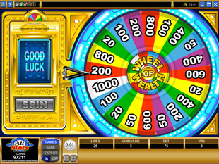 free Wheel of Wealth Multiplayer bonus feature