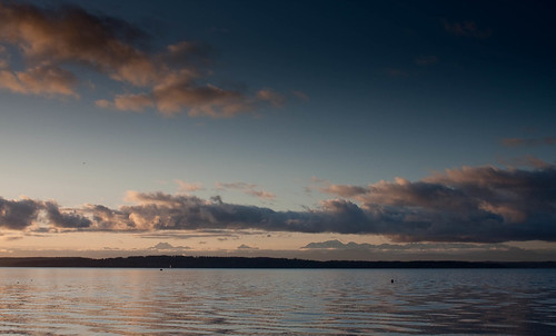 Sunset & the Olympic Mountains