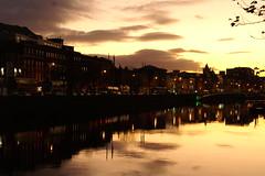 Dublin at night (leehobbi) Tags: nightphotography ireland dublin night river liffey nightscene