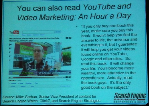 slide from YouTube & Video Optimization presentation at SES Chicago 2009
