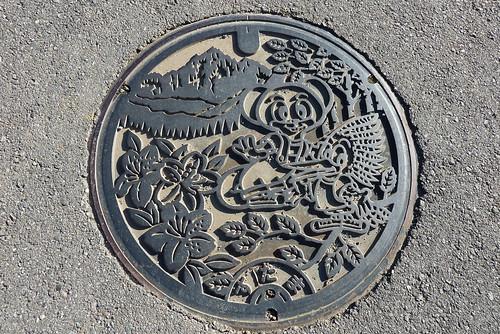 須玉町のマンホール