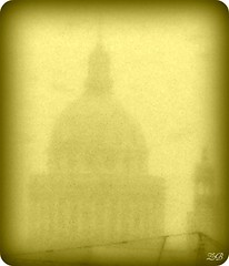 Le Panthon sous la neige - The Pantheon in the snow 2 (Zinaida Beaumont (lot of work at the office)) Tags: snow paris sepia work university universit neige grue jussieu travaux rl panthon quartierlatin parisvi travelsofhomerodyssey