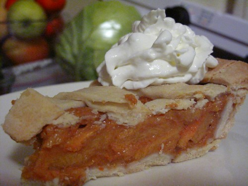 persimmon pie slice