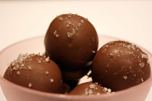 Chocolate Truffles with Sea Salt - Completely Delicious