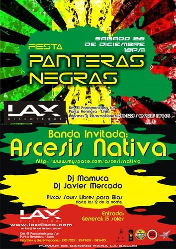 Fiesta Pantera Negras - Lax Disco