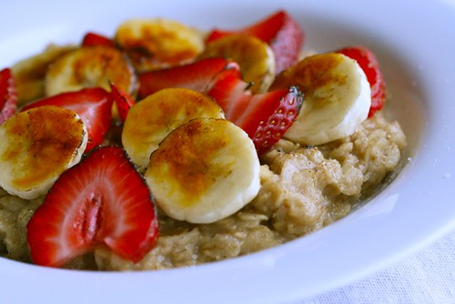 Strawberry Banana Oatmeal Brûlée
