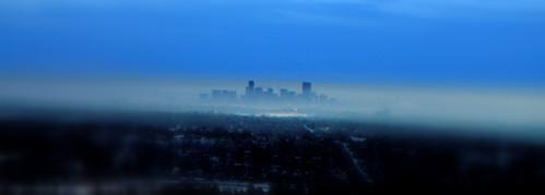 Denver in the mist
