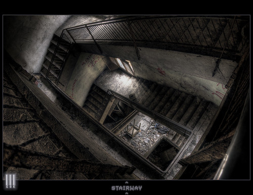 Stairway to the decayed hell