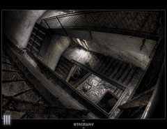 Stairway to the decayed hell (il COE) Tags: school urban scale photoshop canon dark lights stair shadows darkness decay hell ombre stairway creepy fisheye abandon urbano luci dormitory 16mm abandonment hdr coe decayed decadence scuola buio rifugio dormitorio urbex urb scalinata decadente abbandono oscurit decadenza photomatix abbandoni